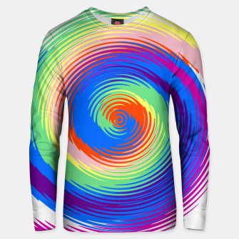 Thumbnail image of Colorful spiral Unisex sweater, Live Heroes