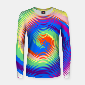 Thumbnail image of Colorful spiral Women sweater, Live Heroes