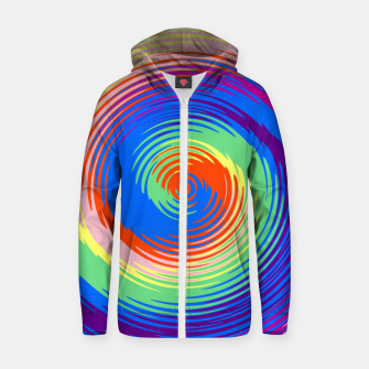 Thumbnail image of Colorful spiral Zip up hoodie, Live Heroes
