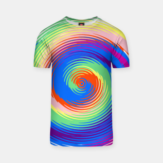Colorful spiral T-shirt Bild der Miniatur