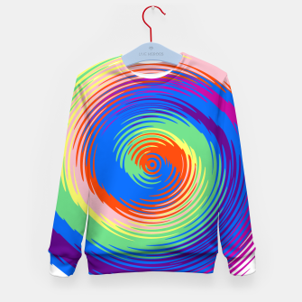 Miniatur Colorful spiral Kid's sweater, Live Heroes
