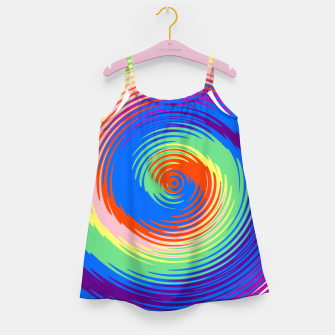 Miniatur Colorful spiral Girl's dress, Live Heroes