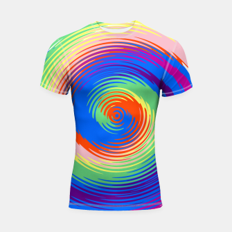 Thumbnail image of Colorful spiral Shortsleeve rashguard, Live Heroes