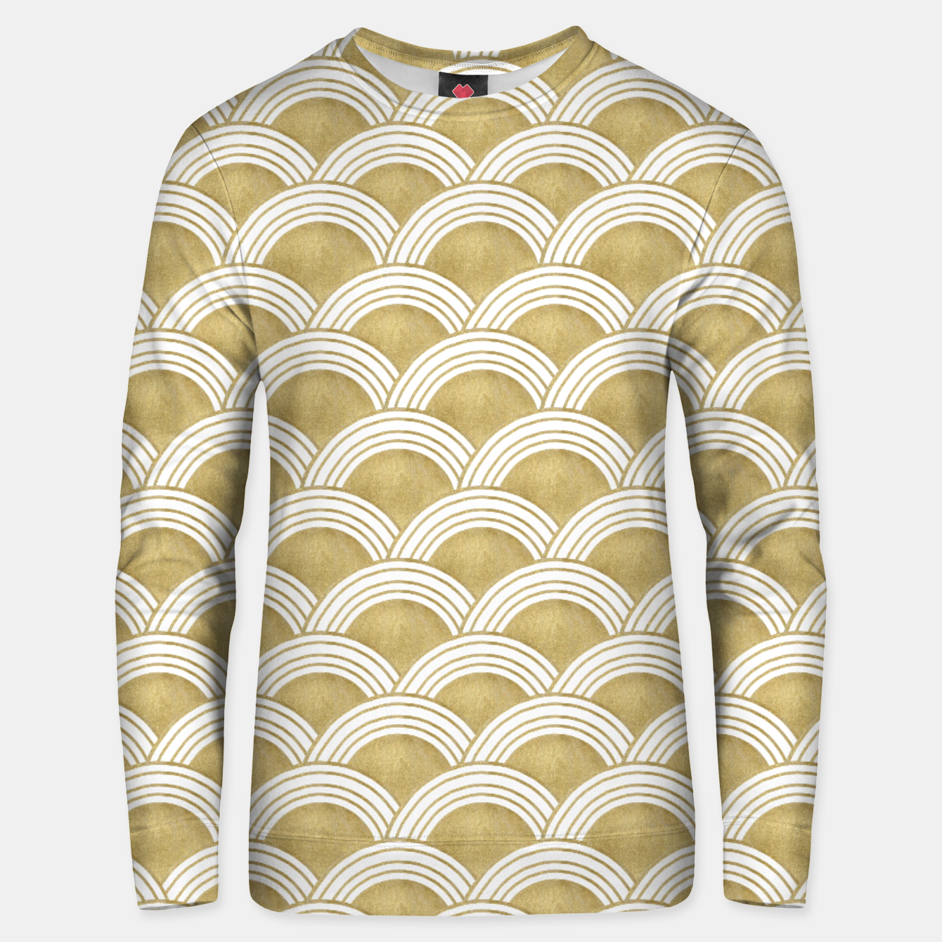 Image of Japanese Wave Gold Glam #1 #decor #art  Unisex sweatshirt - Live Heroes
