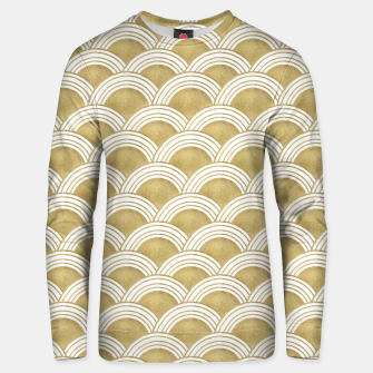 Japanese Wave Gold Glam #1 #decor #art  Unisex sweatshirt obraz miniatury