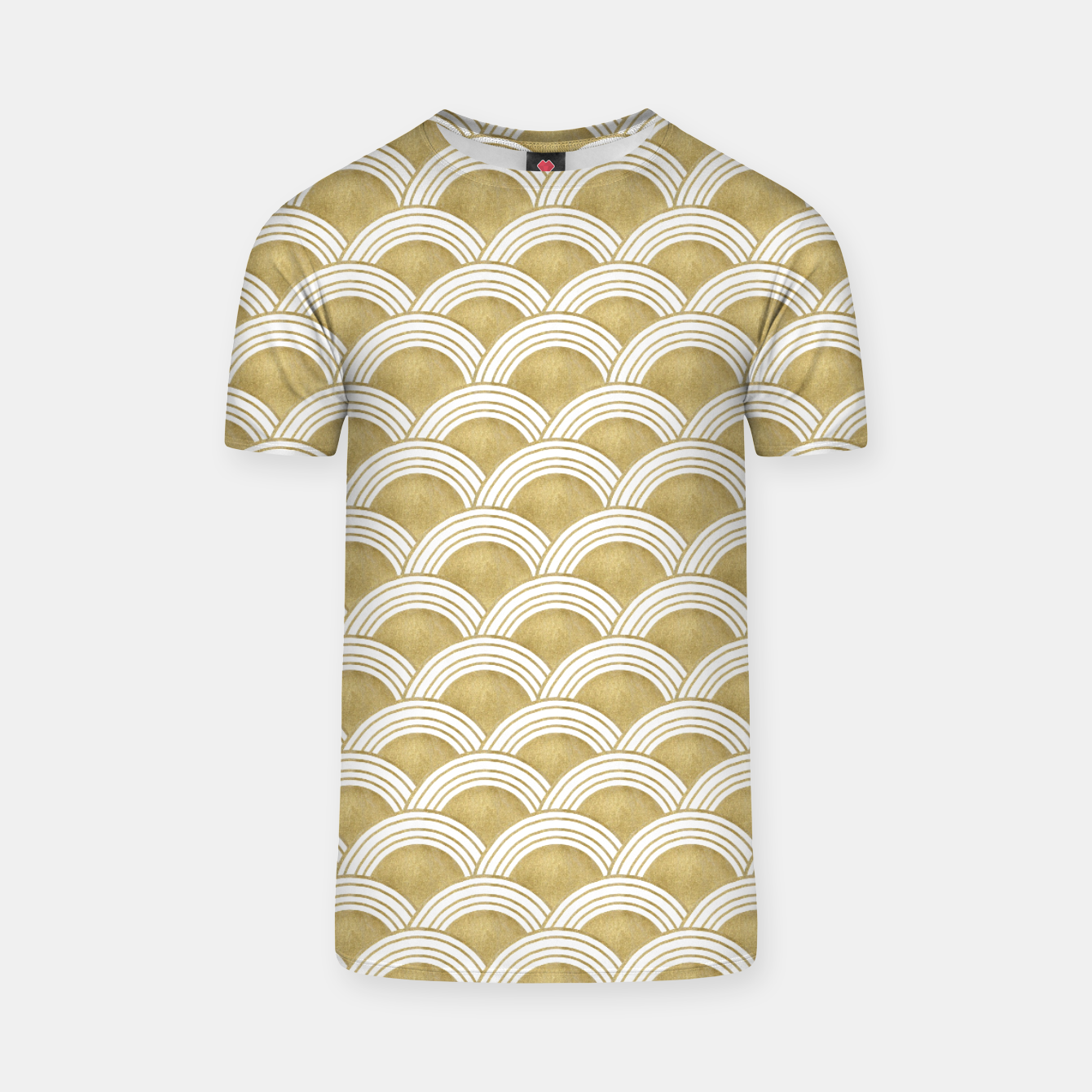 Zdjęcie Japanese Wave Gold Glam #1 #decor #art  T-Shirt - Live Heroes