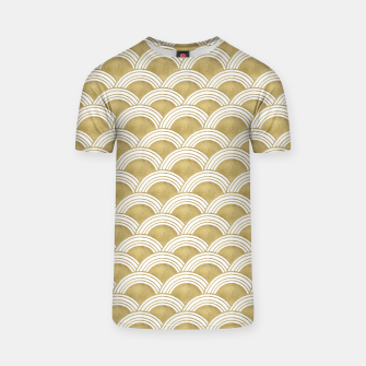 Japanese Wave Gold Glam #1 #decor #art  T-Shirt thumbnail image