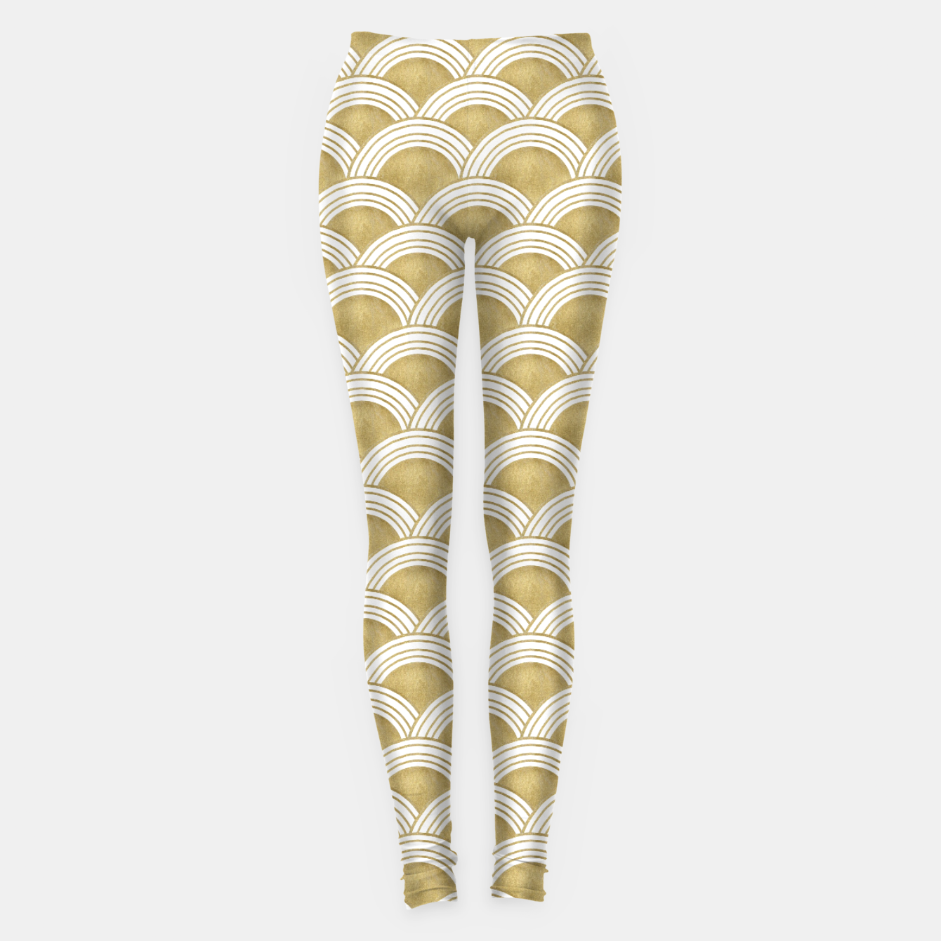 Zdjęcie Japanese Wave Gold Glam #1 #decor #art  Leggings - Live Heroes