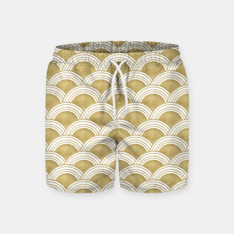 Japanese Wave Gold Glam #1 #decor #art  Badeshorts thumbnail image
