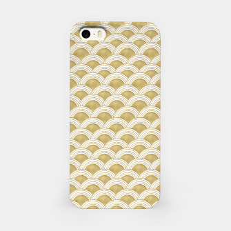 Japanese Wave Gold Glam #1 #decor #art  iPhone-Hülle miniature