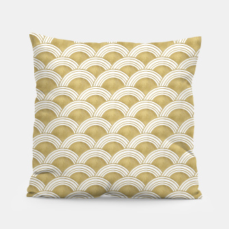 Japanese Wave Gold Glam #1 #decor #art  Kissen thumbnail image