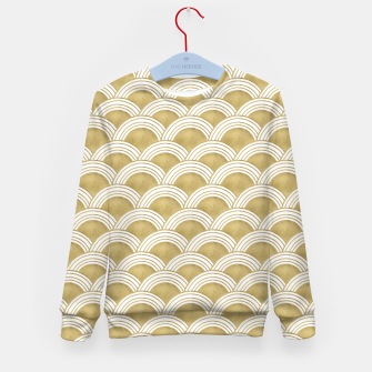 Japanese Wave Gold Glam #1 #decor #art  Kindersweatshirt thumbnail image