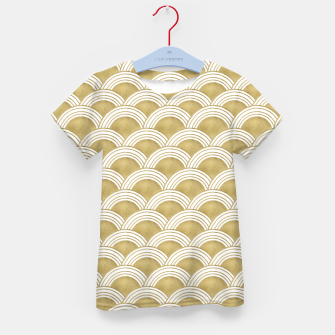 Japanese Wave Gold Glam #1 #decor #art  T-Shirt für kinder thumbnail image
