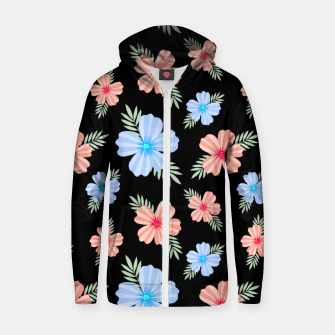 Thumbnail image of Flora Dark Zip up hoodie, Live Heroes