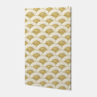 Japanese Wave Gold Glam #1 #decor #art  Canvas thumbnail image