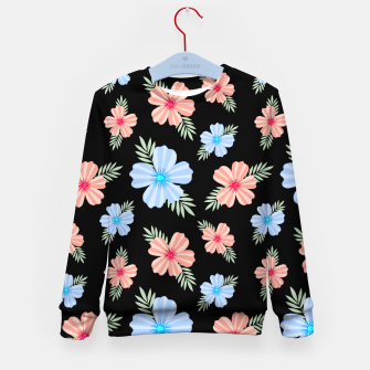 Flora Dark Kid's sweater Bild der Miniatur