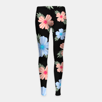 Thumbnail image of Flora Dark Girl's leggings, Live Heroes