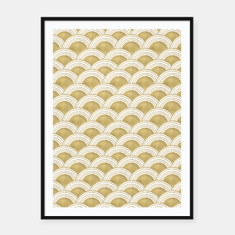 Japanese Wave Gold Glam #1 #decor #art  Plakat mit rahmen thumbnail image