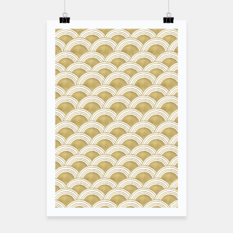 Japanese Wave Gold Glam #1 #decor #art  Plakat miniature