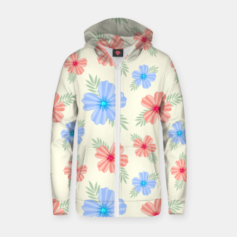 Thumbnail image of Flora Light Zip up hoodie, Live Heroes