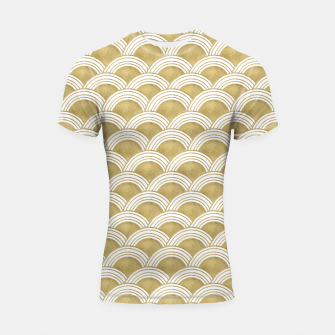 Thumbnail image of Japanese Wave Gold Glam #1 #decor #art  Shortsleeve rashguard, Live Heroes