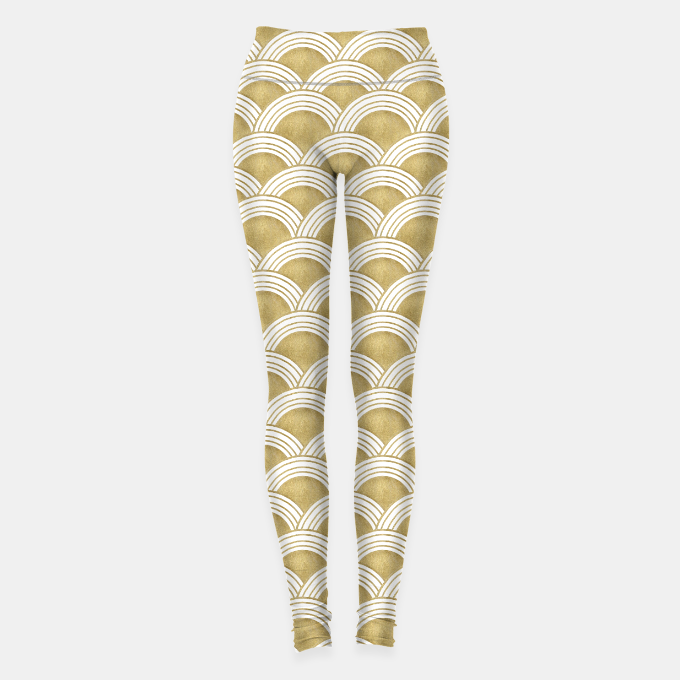 Image of Japanese Wave Gold Glam #1 #decor #art  Leggings - Live Heroes