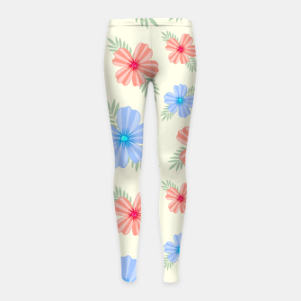 Miniatur Flora Light Girl's leggings, Live Heroes
