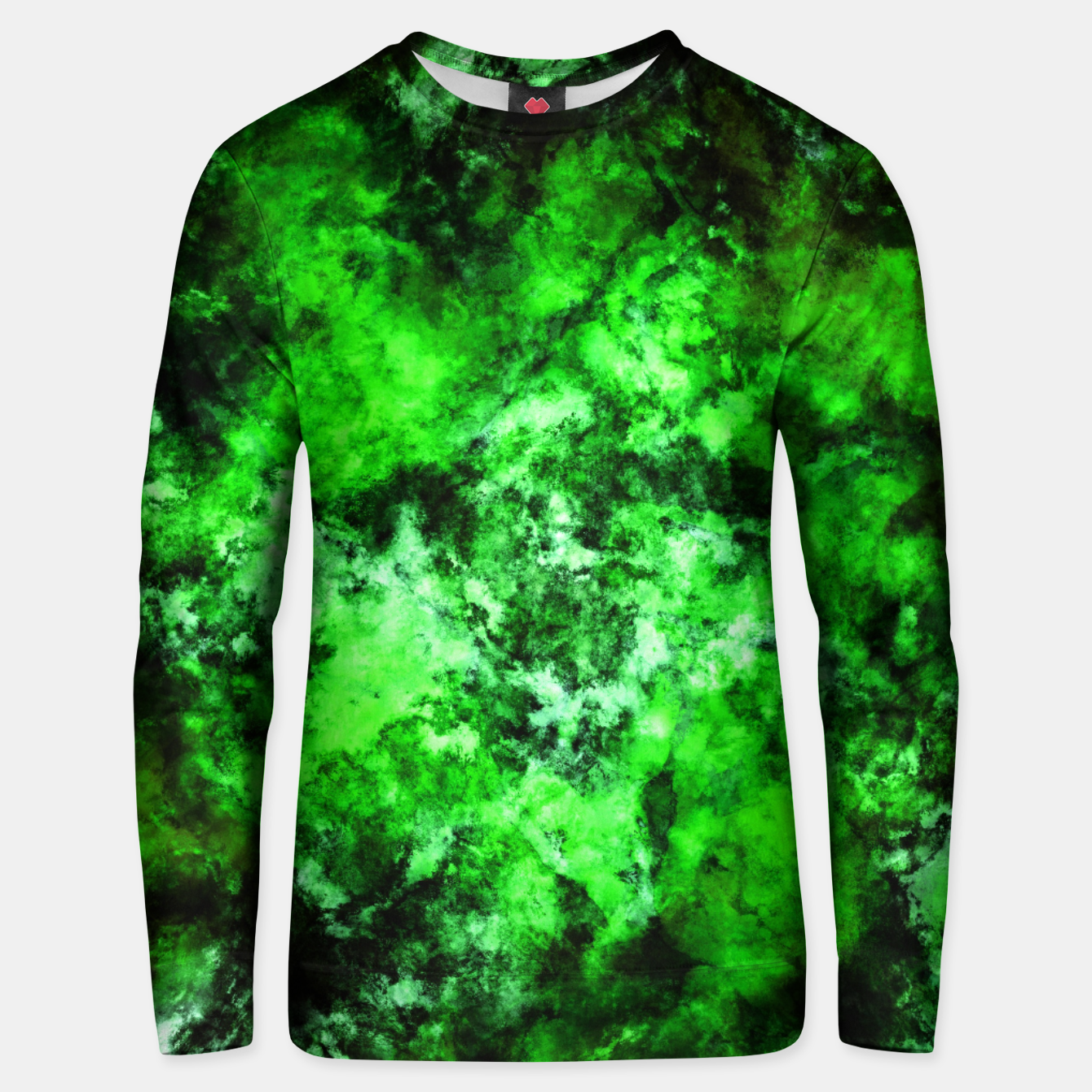 Image of Green burst Unisex sweater - Live Heroes