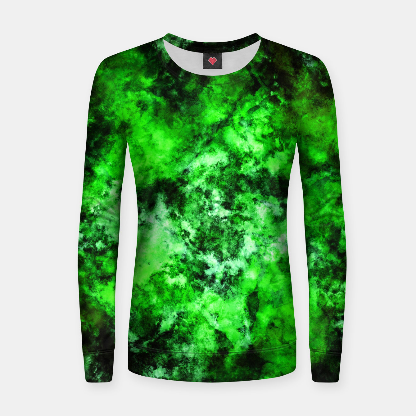 Image of Green burst Women sweater - Live Heroes