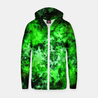 Thumbnail image of Green burst Zip up hoodie, Live Heroes
