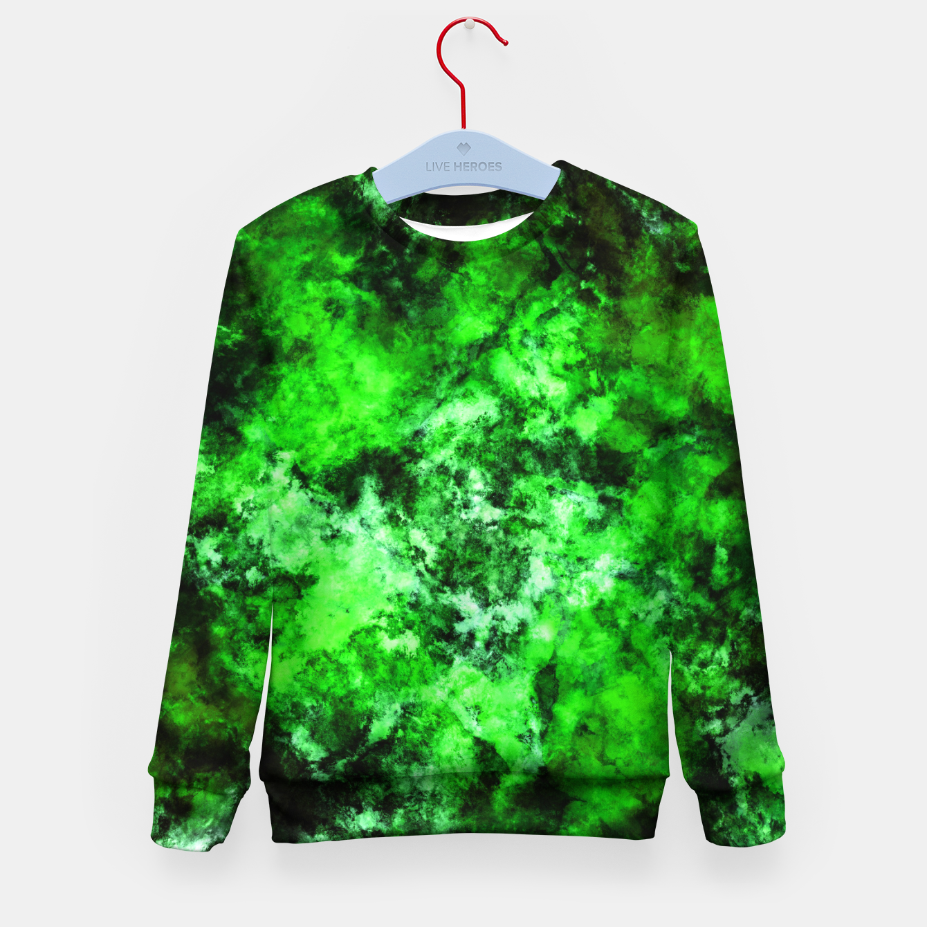 Image of Green burst Kid's sweater - Live Heroes