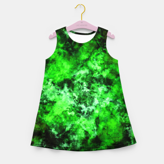 Thumbnail image of Green burst Girl's summer dress, Live Heroes