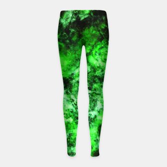 Thumbnail image of Green burst Girl's leggings, Live Heroes