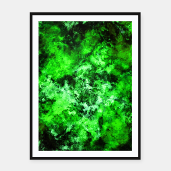 Green burst Framed poster thumbnail image
