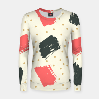 Miniatur Abstract Art Women sweater, Live Heroes