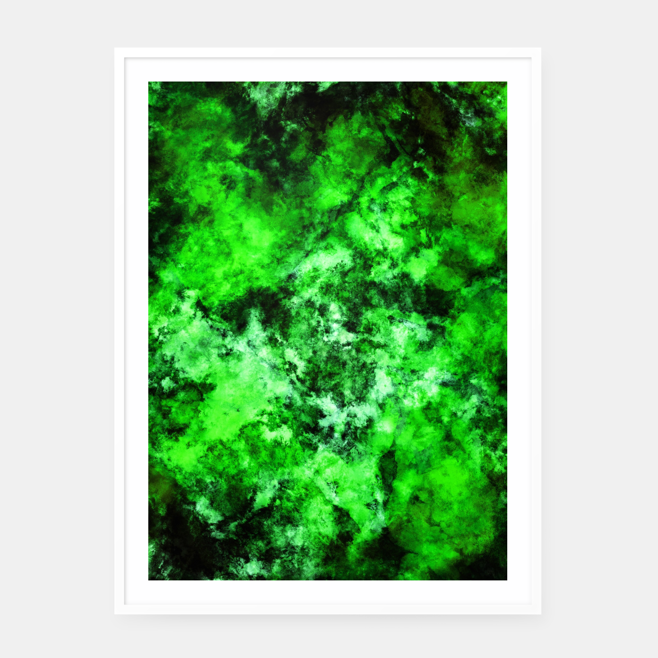 Image of Green burst Framed poster - Live Heroes