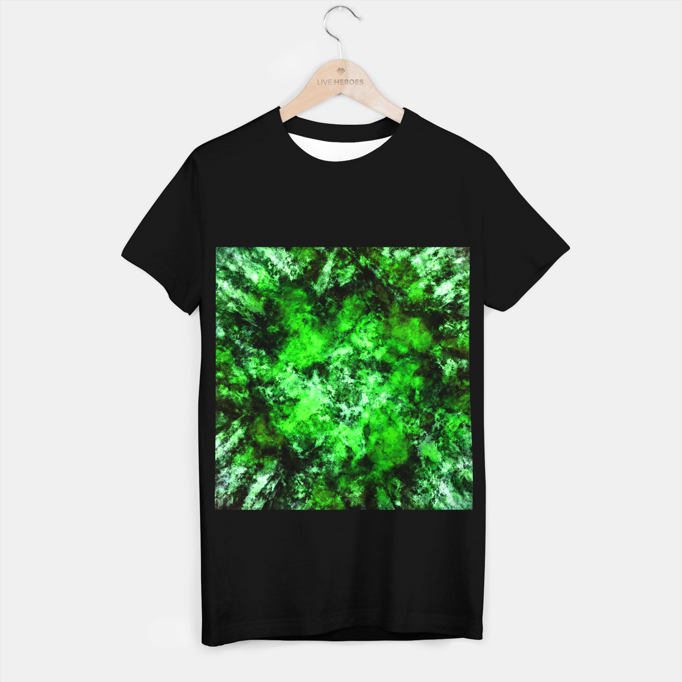 Image of Green burst T-shirt regular - Live Heroes