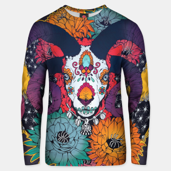 Thumbnail image of Flower Goat Unisex sweater, Live Heroes