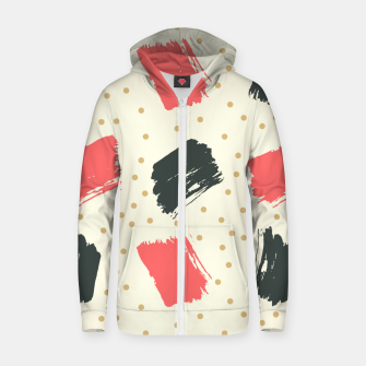 Miniatur Abstract Art Zip up hoodie, Live Heroes