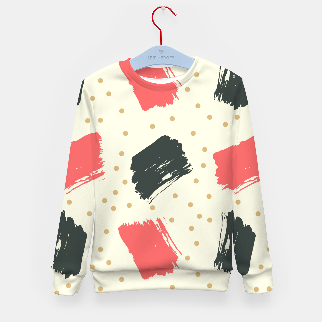 Image of Abstract Art Kid's sweater - Live Heroes