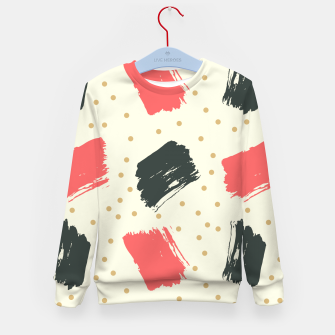 Thumbnail image of Abstract Art Kid's sweater, Live Heroes