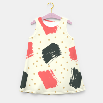 Miniatur Abstract Art Girl's summer dress, Live Heroes