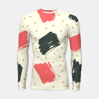 Miniatur Abstract Art Longsleeve rashguard , Live Heroes