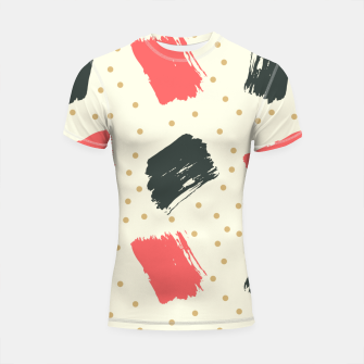 Miniatur Abstract Art Shortsleeve rashguard, Live Heroes