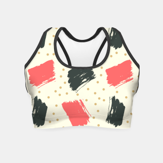 Miniatur Abstract Art Crop Top, Live Heroes