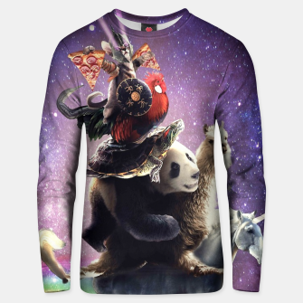 Thumbnail image of Cat Riding Unisex sweater, Live Heroes