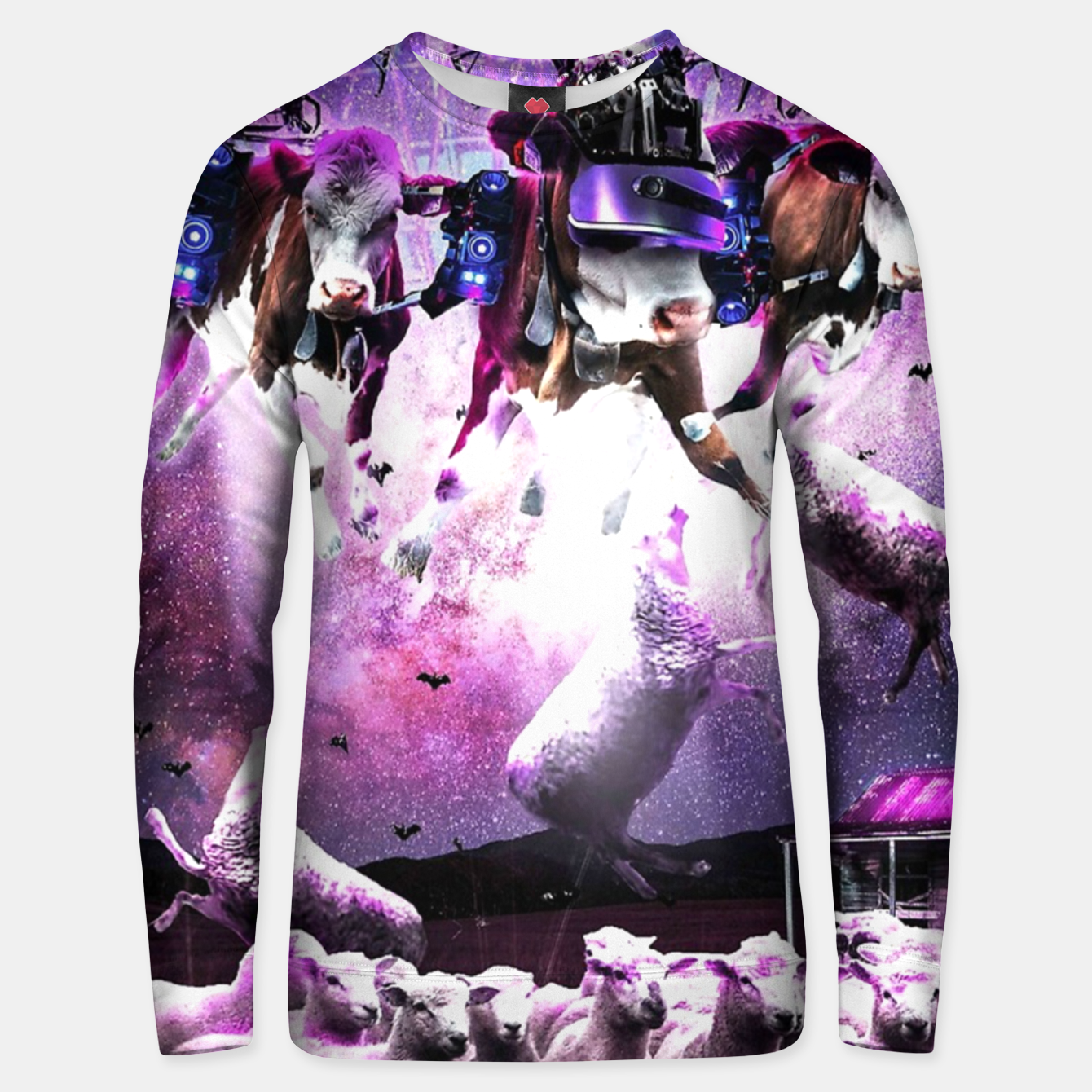 Image de Cows Abduction Sheeps Unisex sweater - Live Heroes