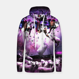 Cows Abduction Sheeps Hoodie miniature