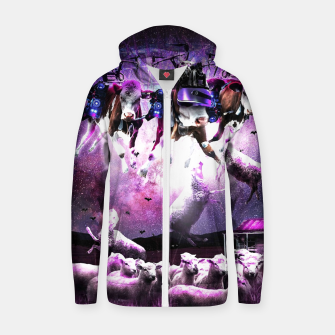 Cows Abduction Sheeps Zip up hoodie miniature
