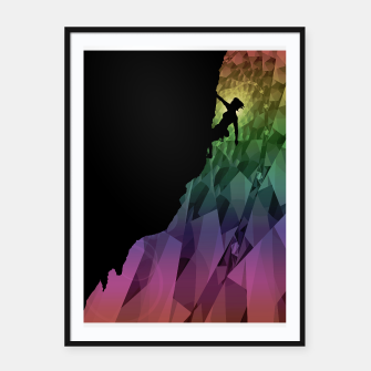 Thumbnail image of climbing the rainbow framed poster, Live Heroes